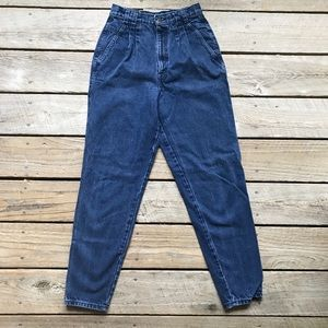 High waisted mom jeans pleated size 27""